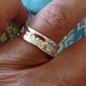 Tiffany Co Jewelry Tiffany Co 1837 Silver Ring Worn Once Size 8